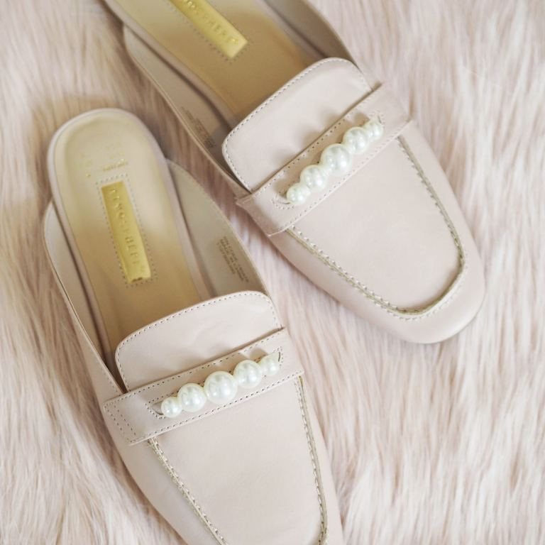 pearl embellished loafers diy