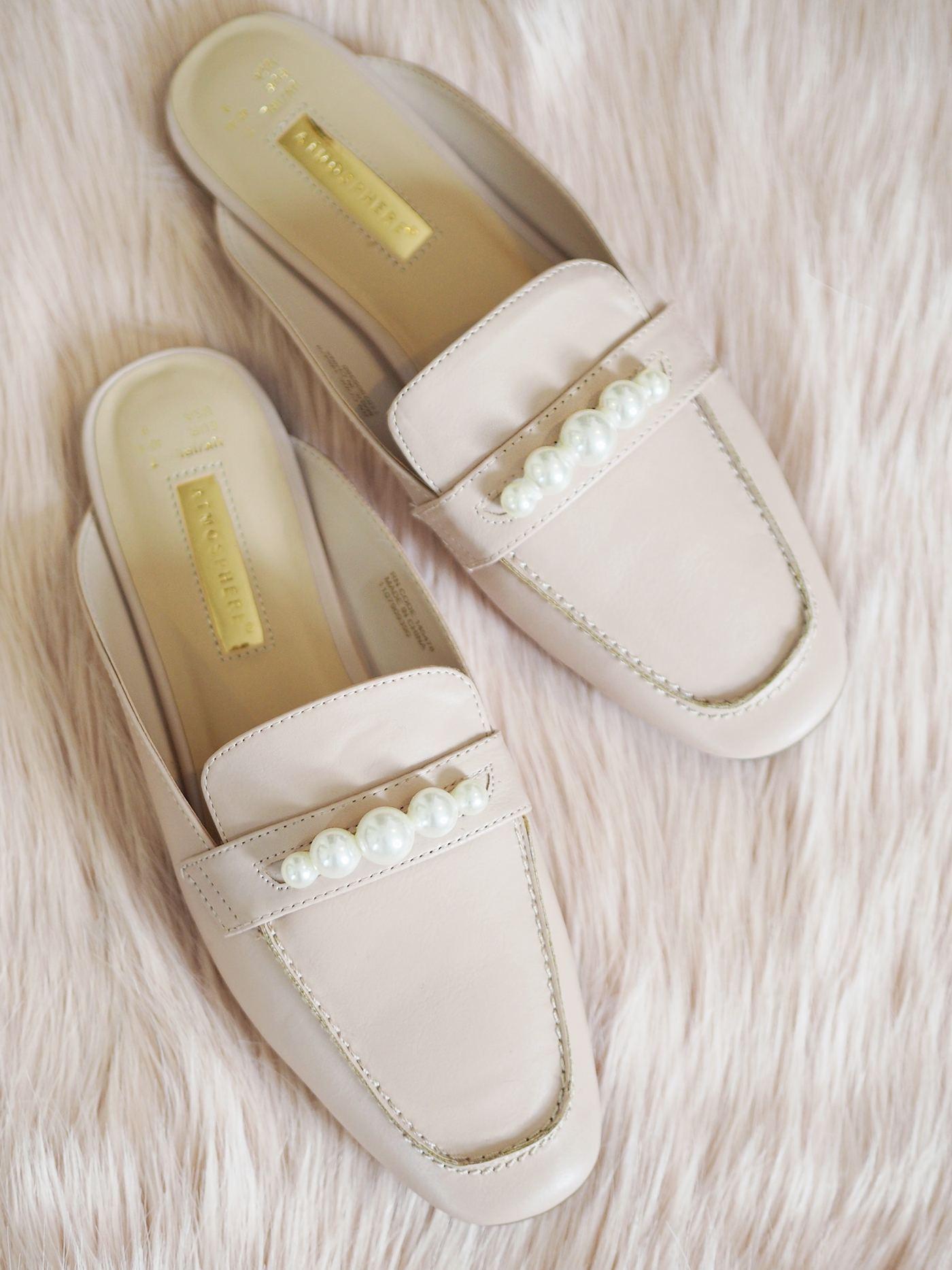 pearl embellished loafers diy
