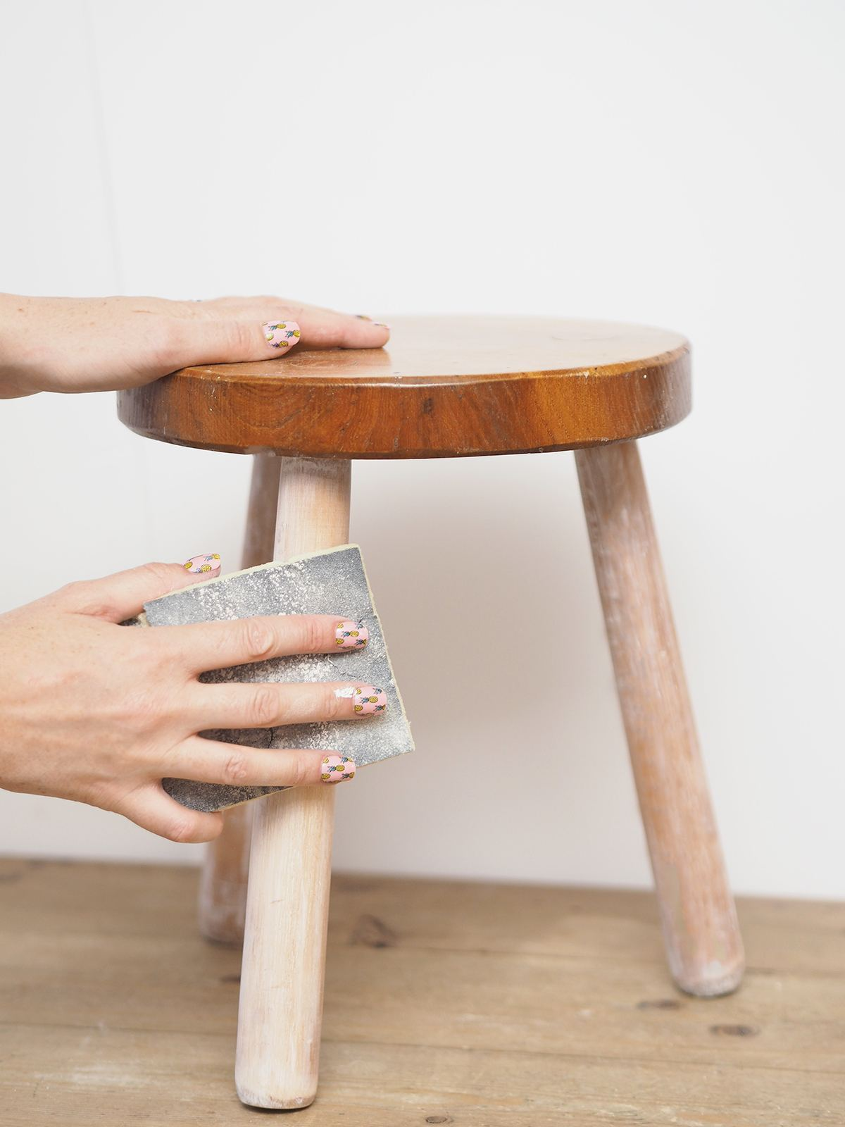 fluffy stool diy tutorial