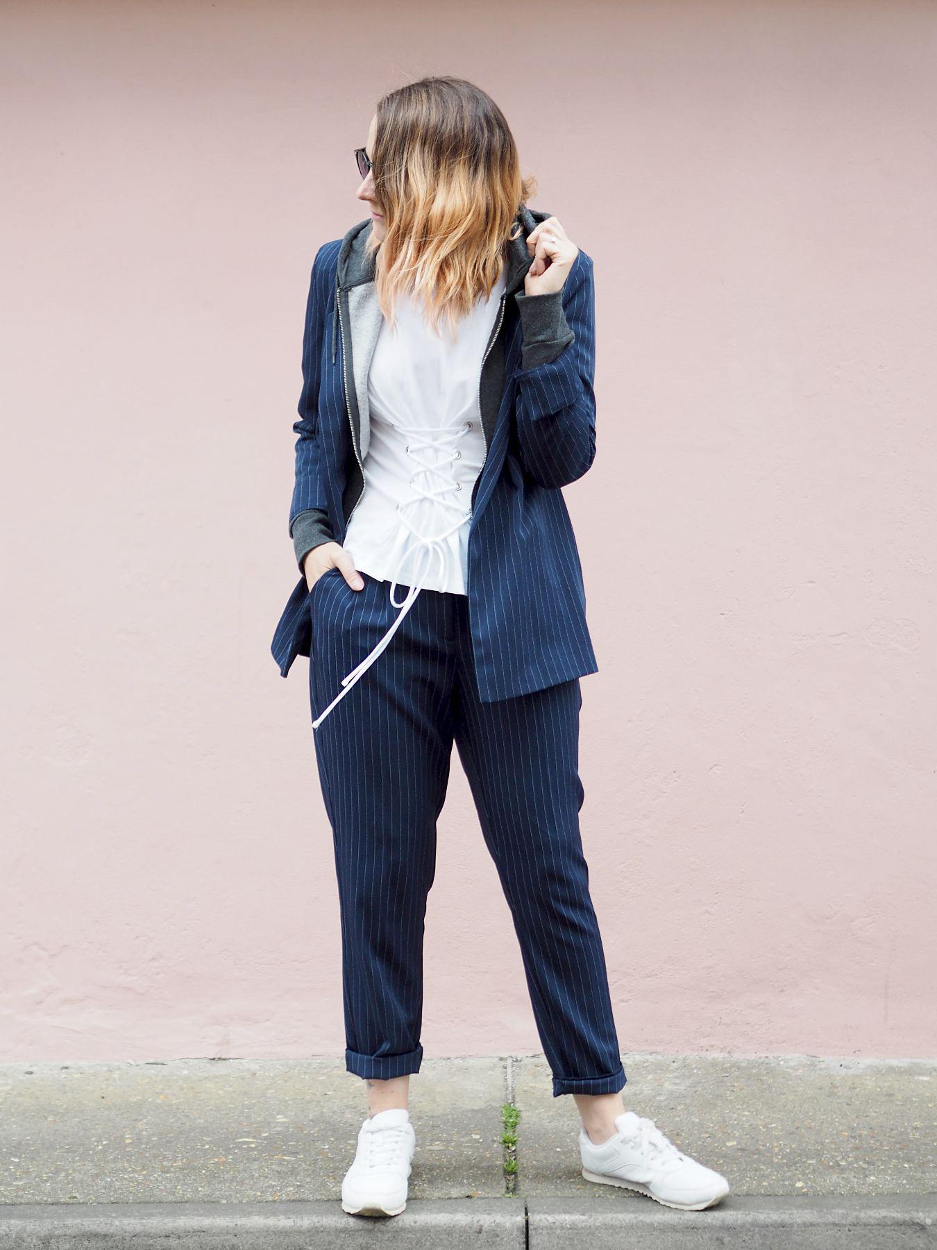 primark casual pinstripe suit
