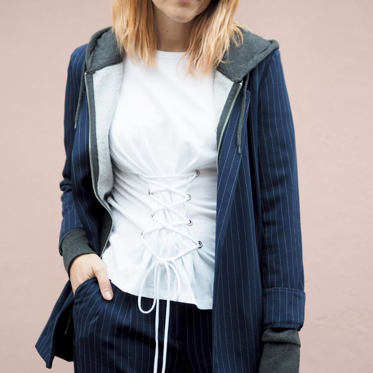primark striped suit outfit