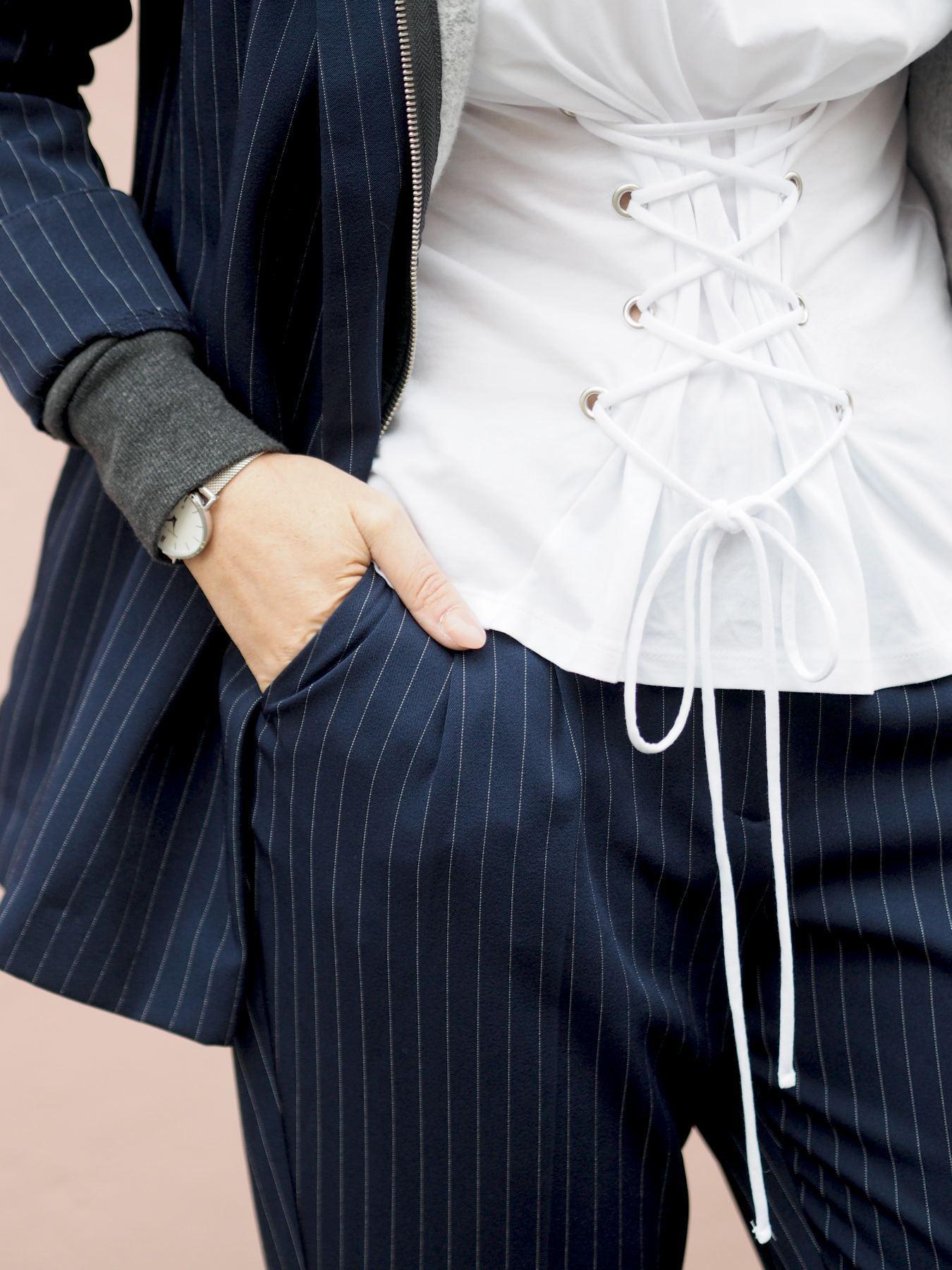 lace up corset tshirt