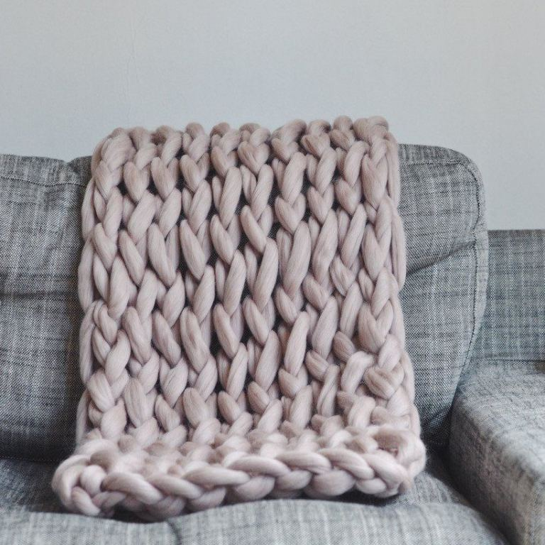 pomme pomme wool knit throws