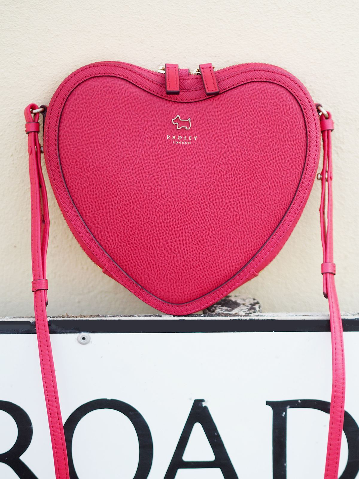 radley heart shaped bag
