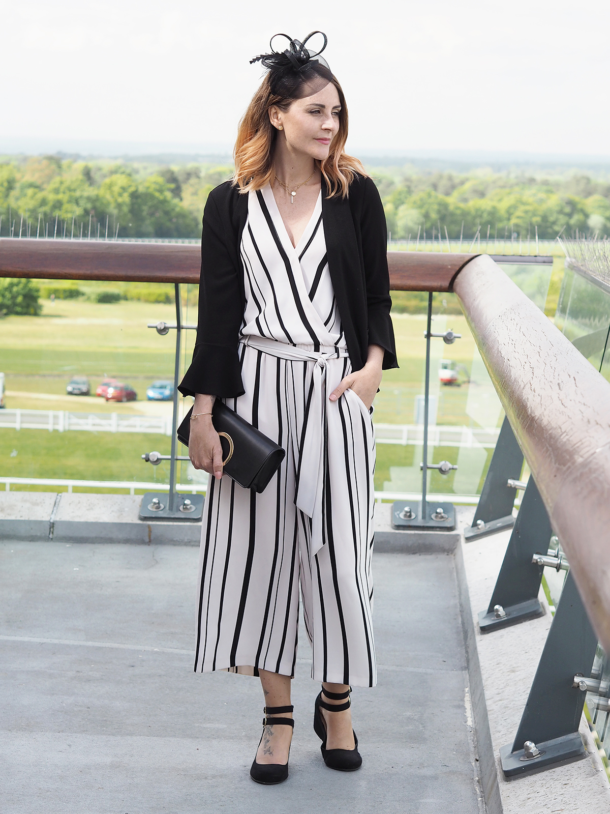 ascot outfit wallis jumpsuit with fascinator