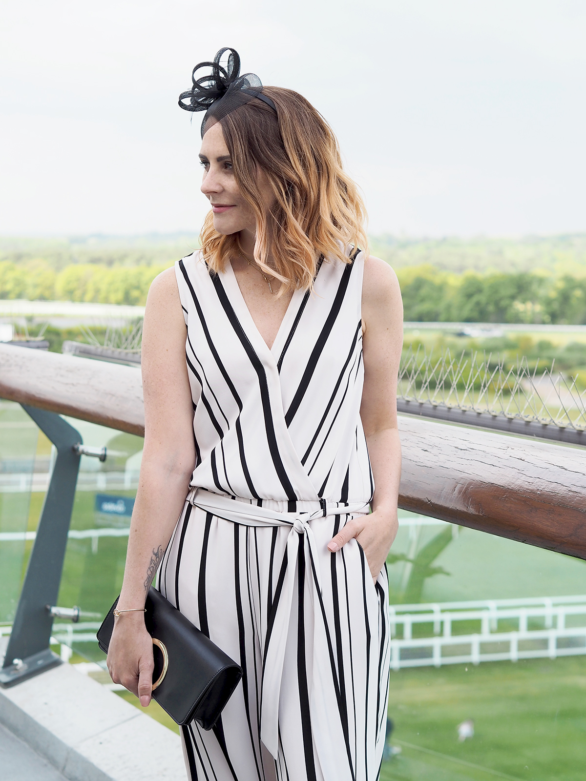 what to wear to Ascot wallis jumpsuit and fascinator