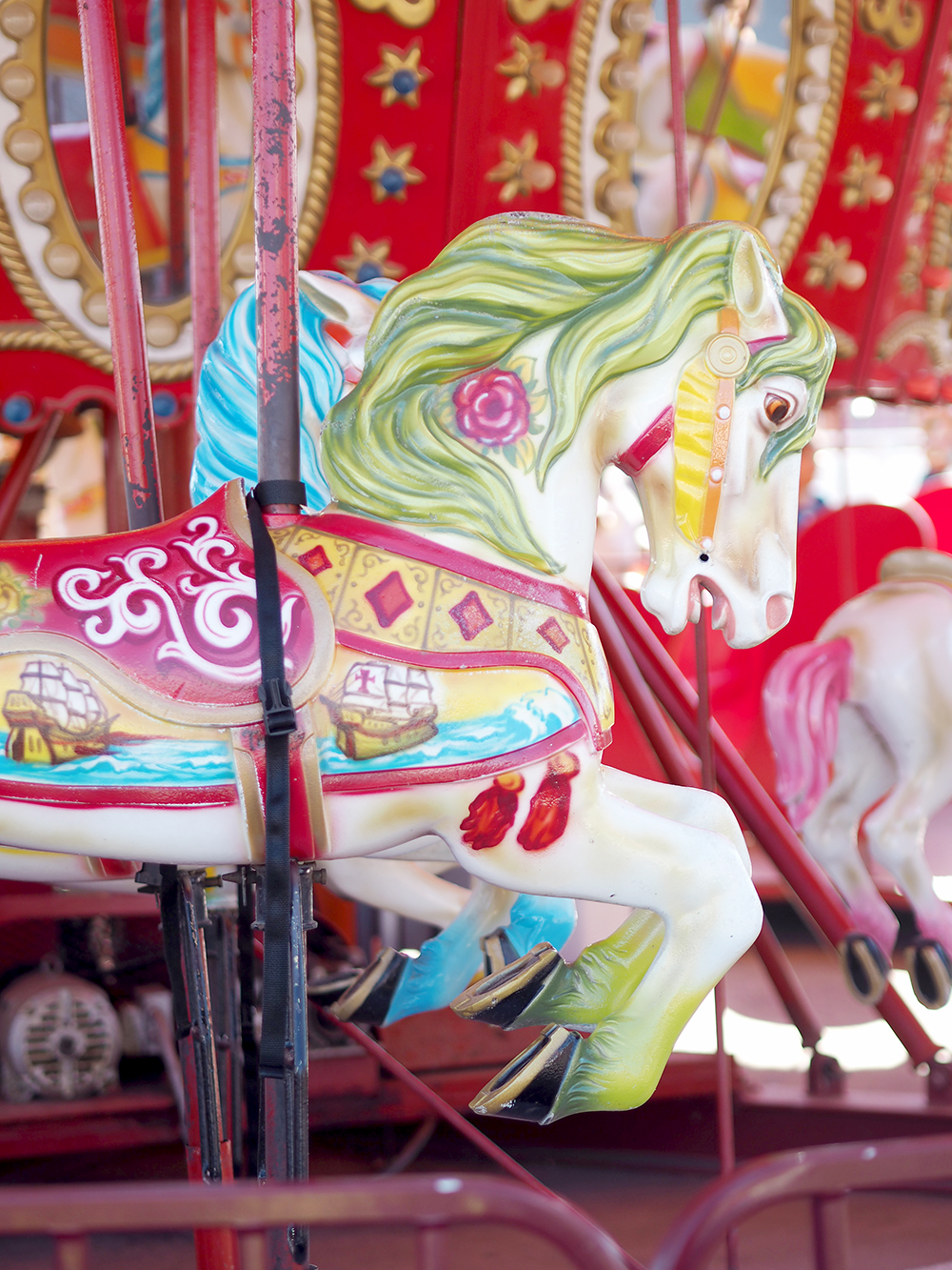 Things to do at Coney Island New York funfair carousel