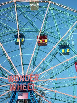 Coney Island funfair wonderwheel