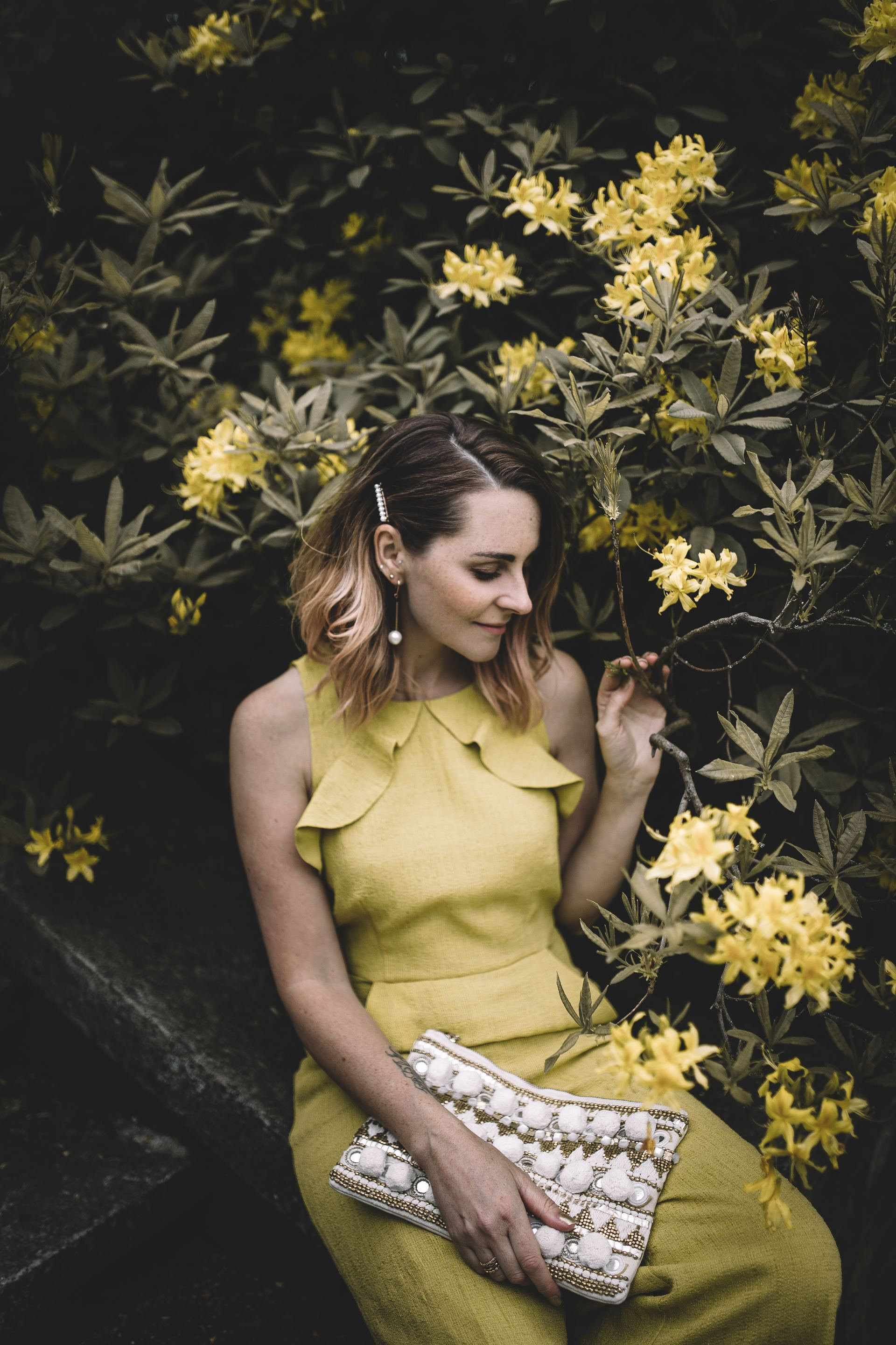 wedding guest outfit yellow jumpsuit john lewis