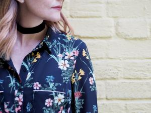 oasis floral shirt dress outfit