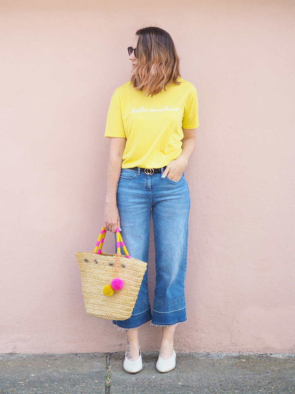 Wearing Bright Colours | Yellow Whistles Tee Outfit - Bang on Style