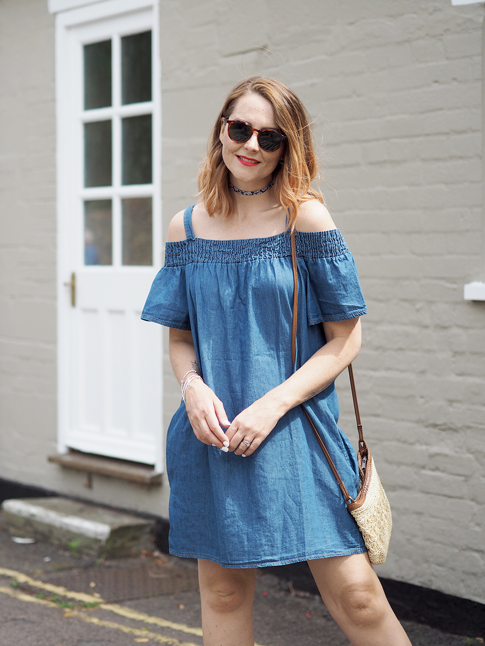 denim bardot summer dress Key pieces you need in your Summer wardrobe