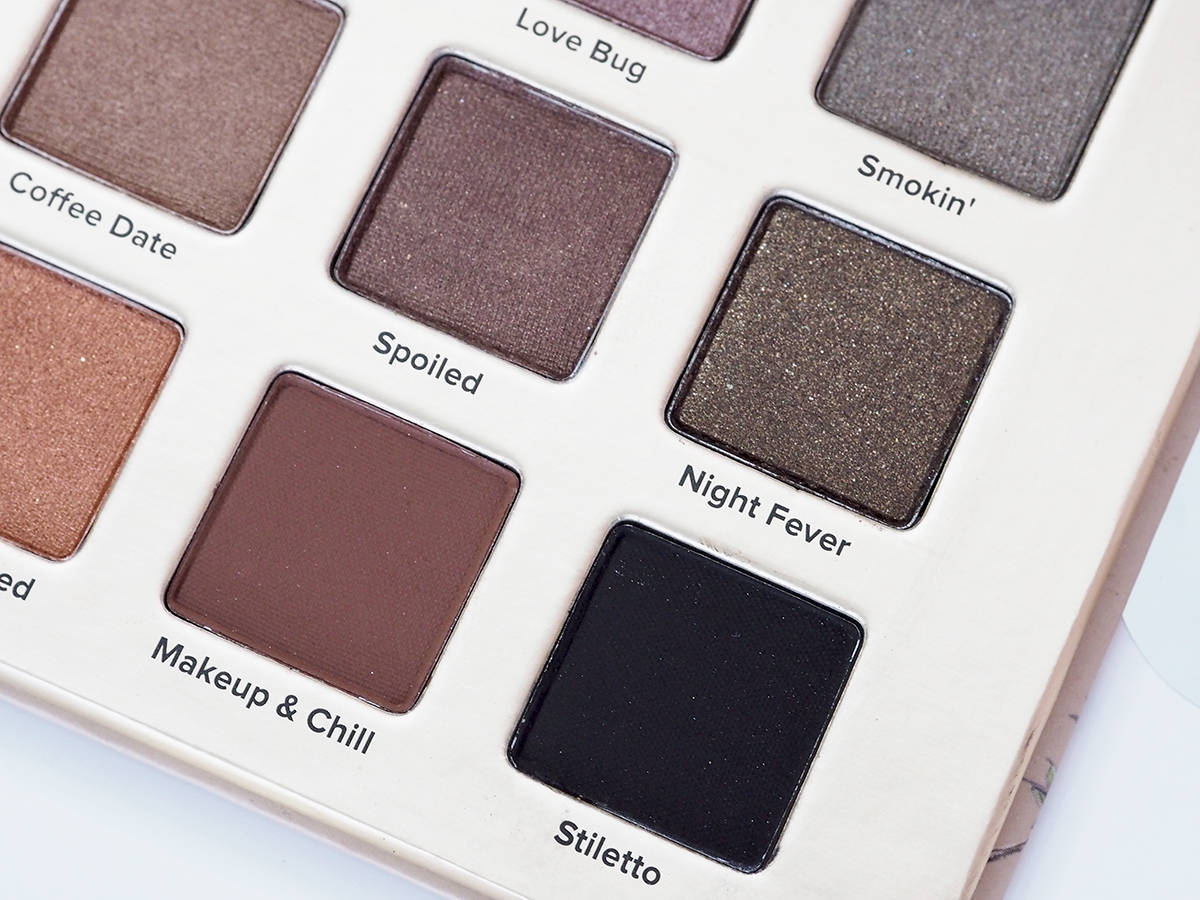 Two faced natural love palette close up shots