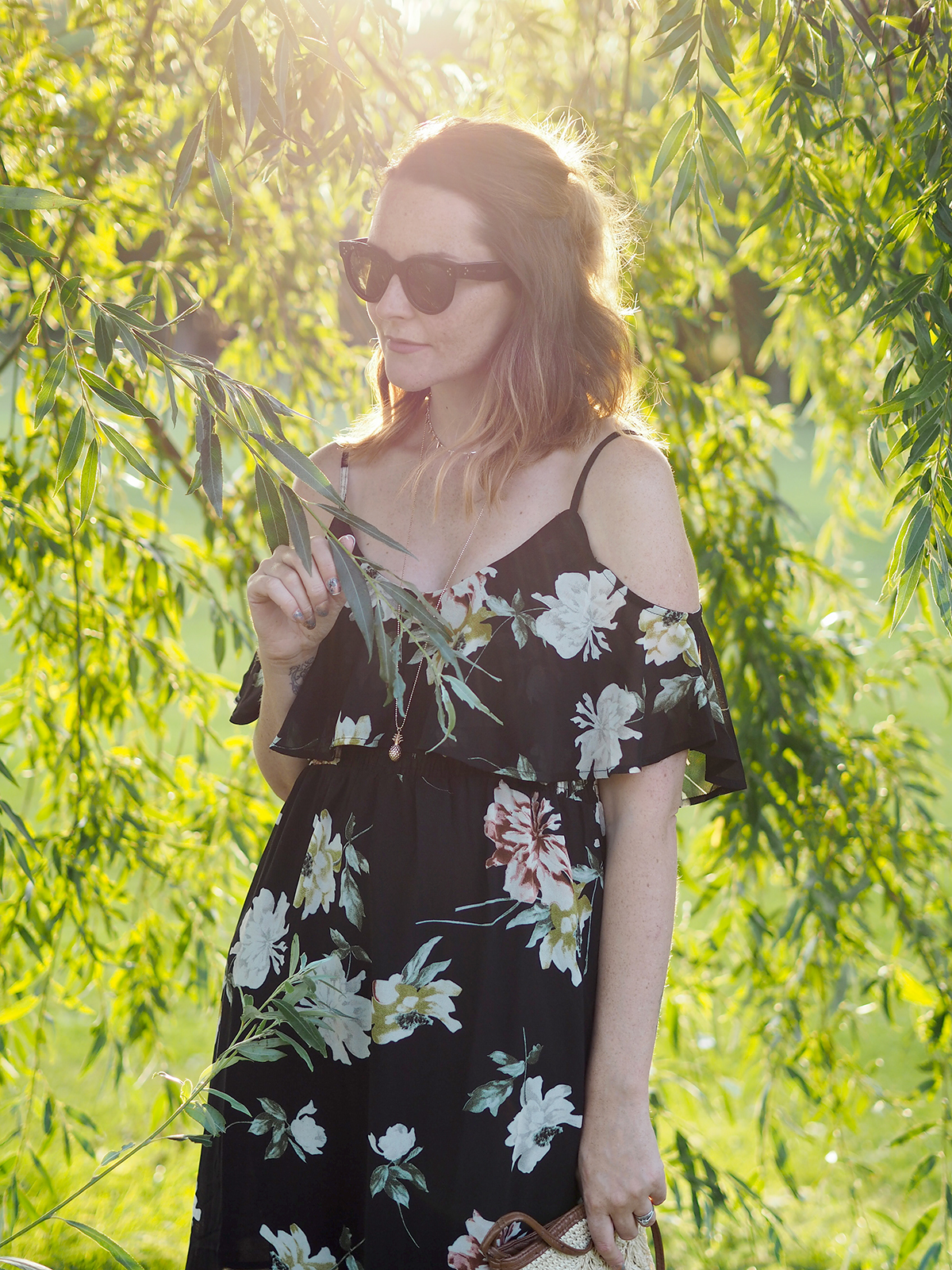 floral maxi dress outfit