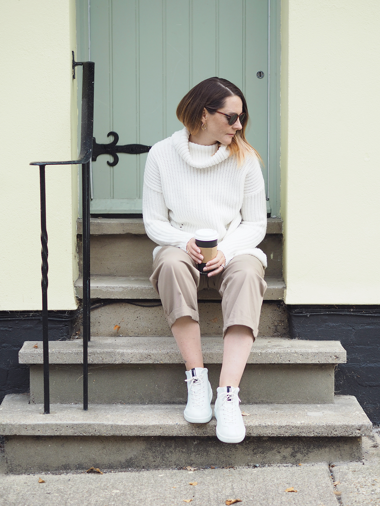 ECCO SOFT 1 trainers casual outfit