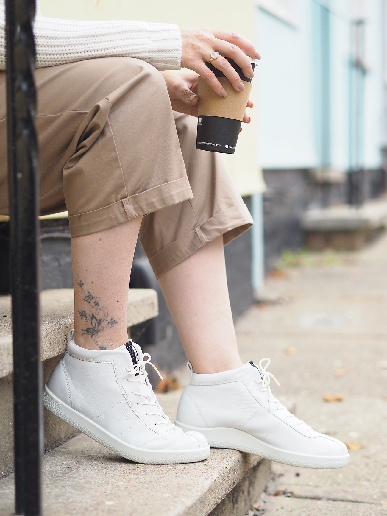ECCO soft 1 trainers high tops white