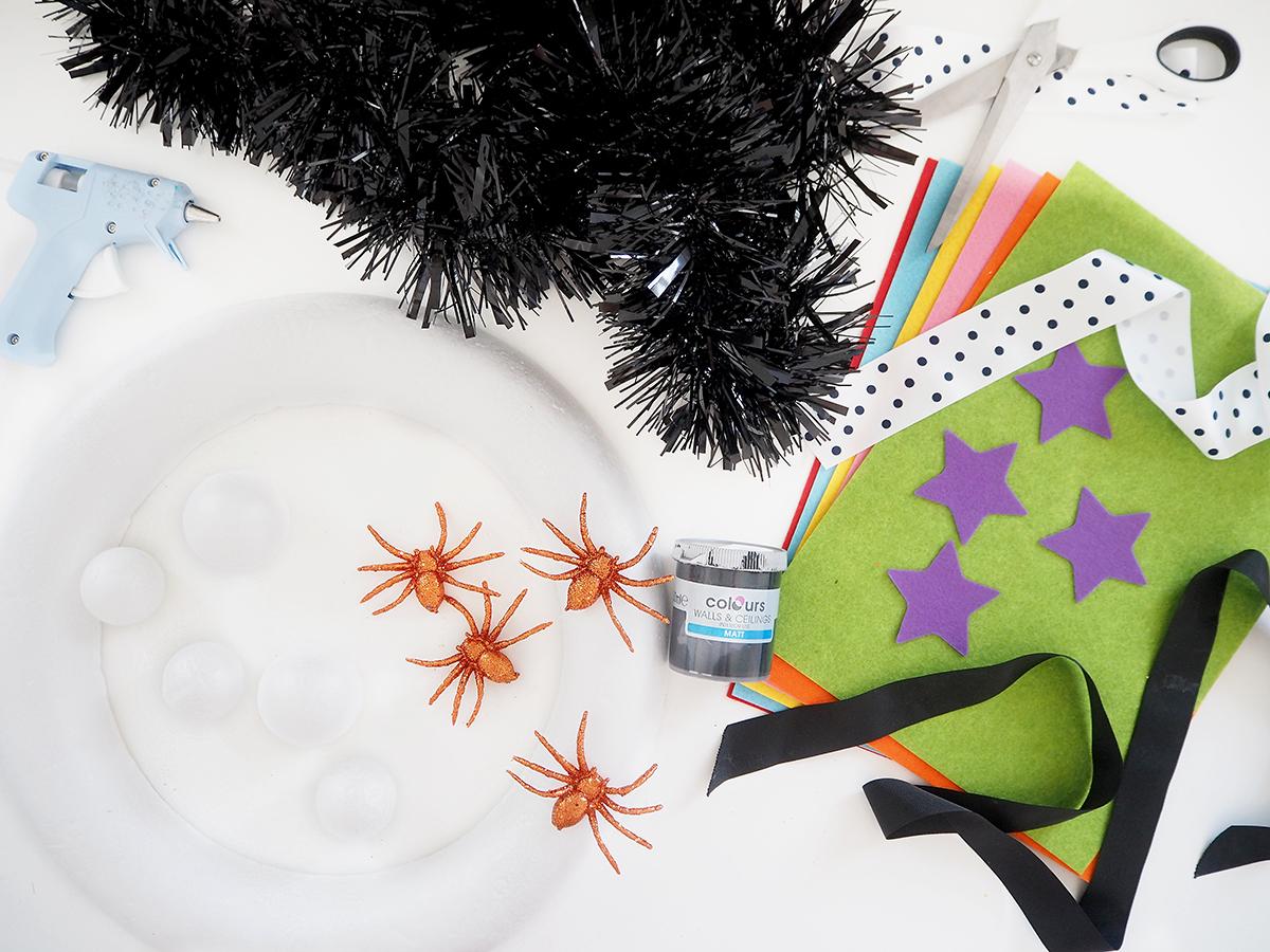 make your own halloween door wreath diy tutorial