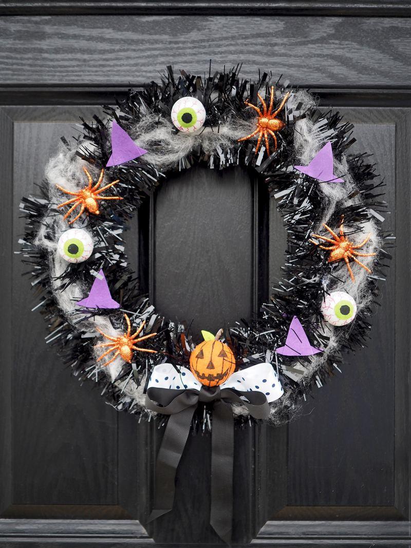 Make Your Own Halloween Door Wreath Diy Tutorial Bang