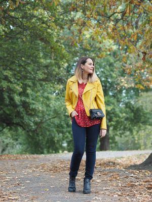 autumn color clash outfit