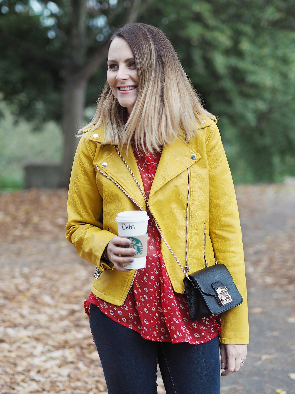autumn colour clash outfit