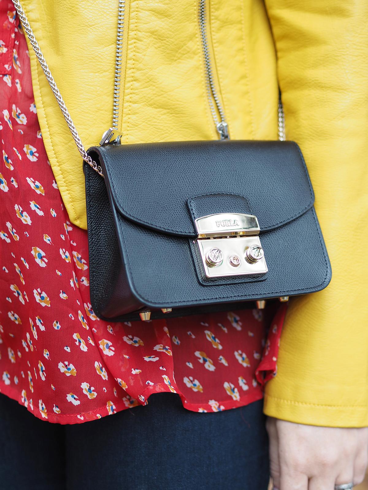 autumn colour clash outfit furla metropolis bag
