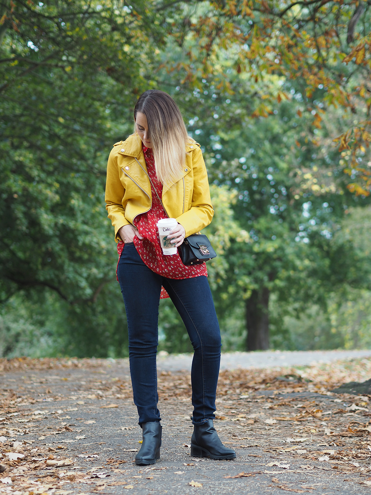 autumn colour clash outfit
