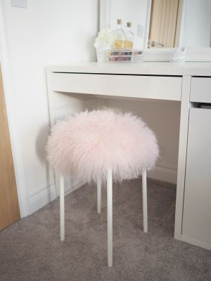 fluffy stool diy