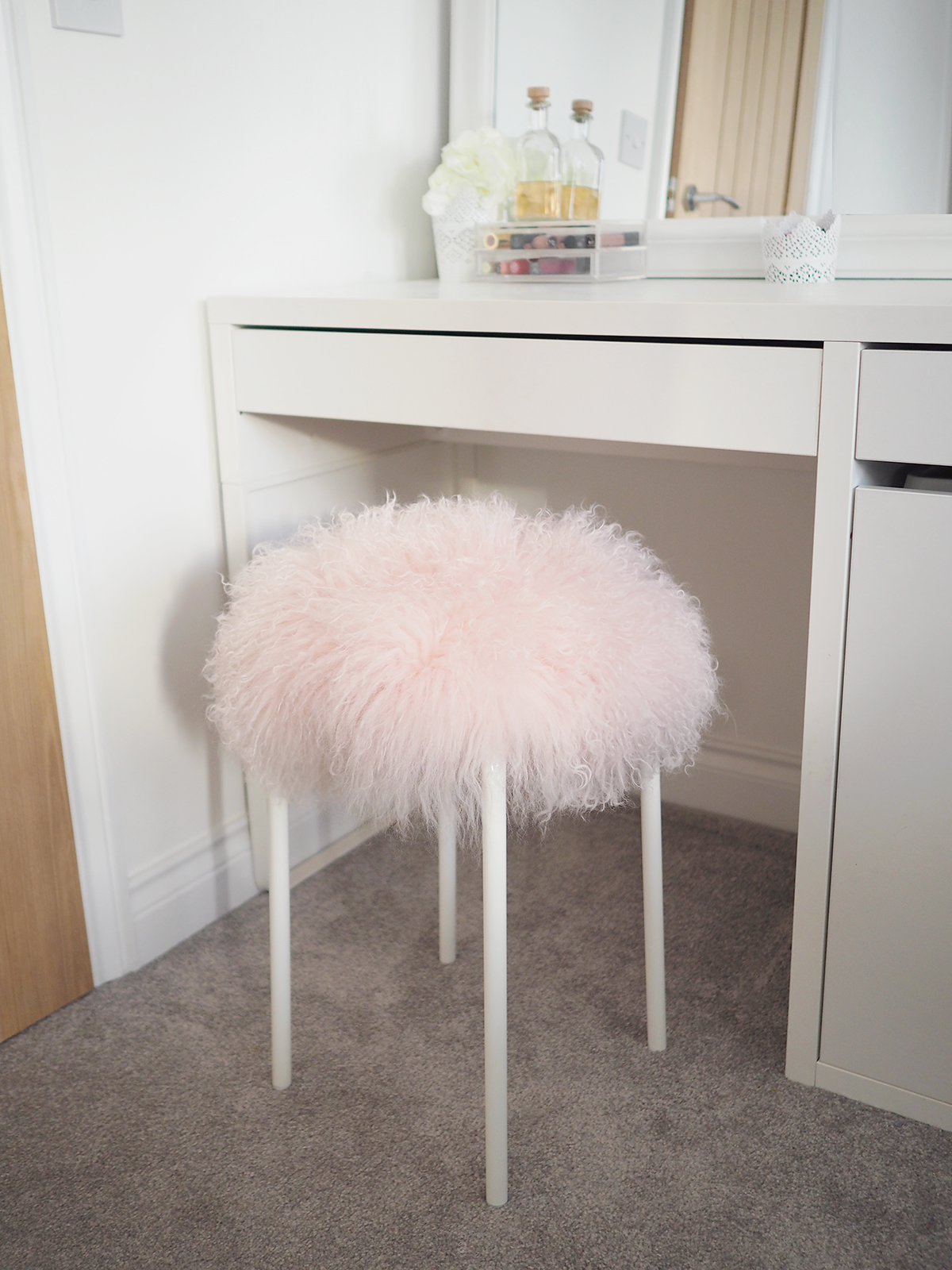5 Minute Fluffy Stool Diy Tutorial Ikea Hack Bang On Style
