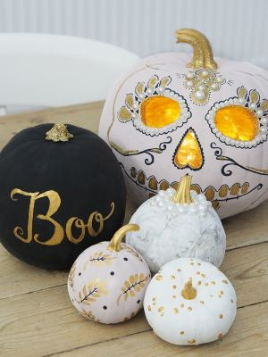painted pumpkins for halloween