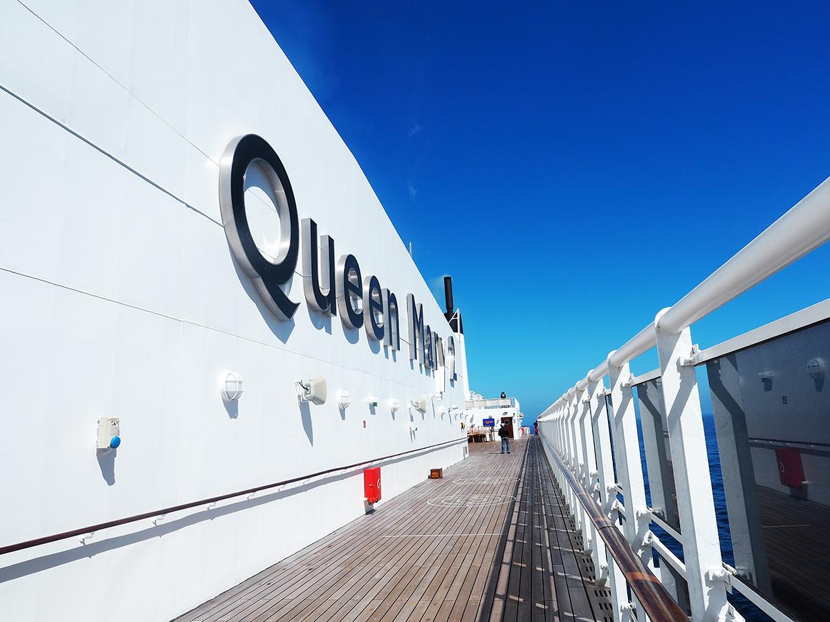 Cunard Queen Mary 2 ship top deck