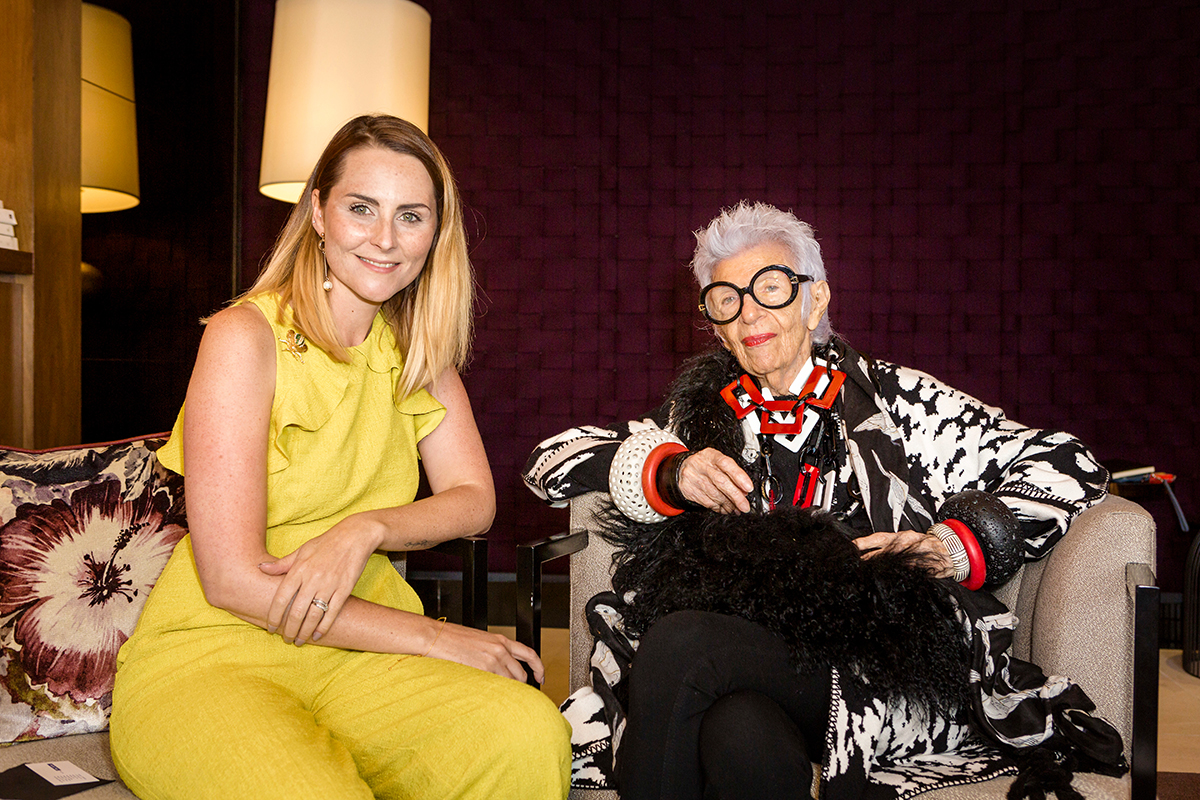 Cunard Iris Apfel afternoon tea
