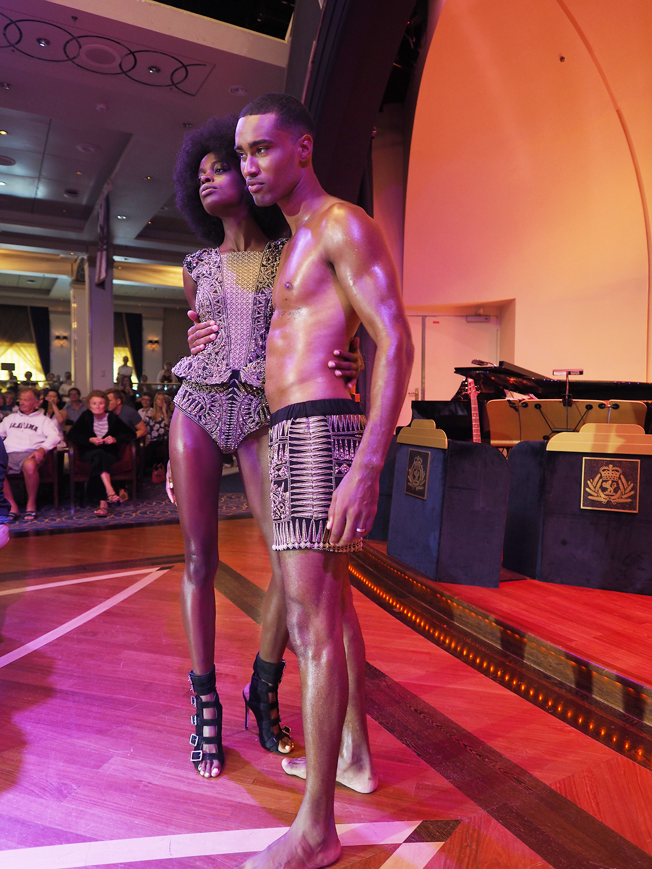 transatlantic fashion week cunard julien macdonald catwalk