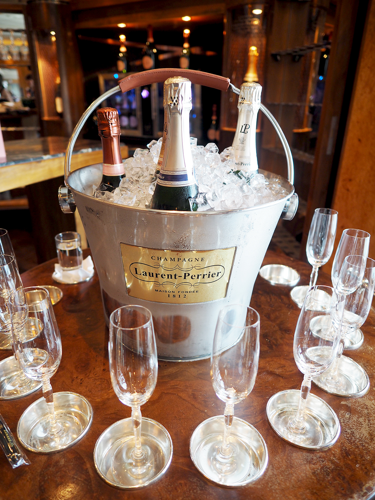 Cunard lauent perrier champagne masterclass