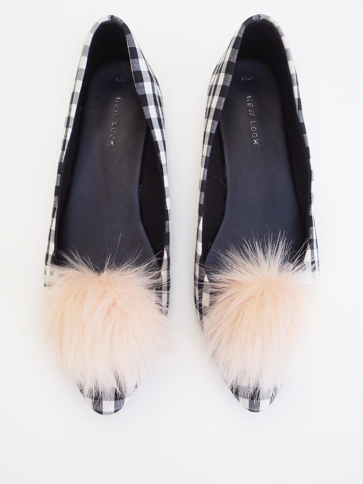 pink pom pom shoe clips