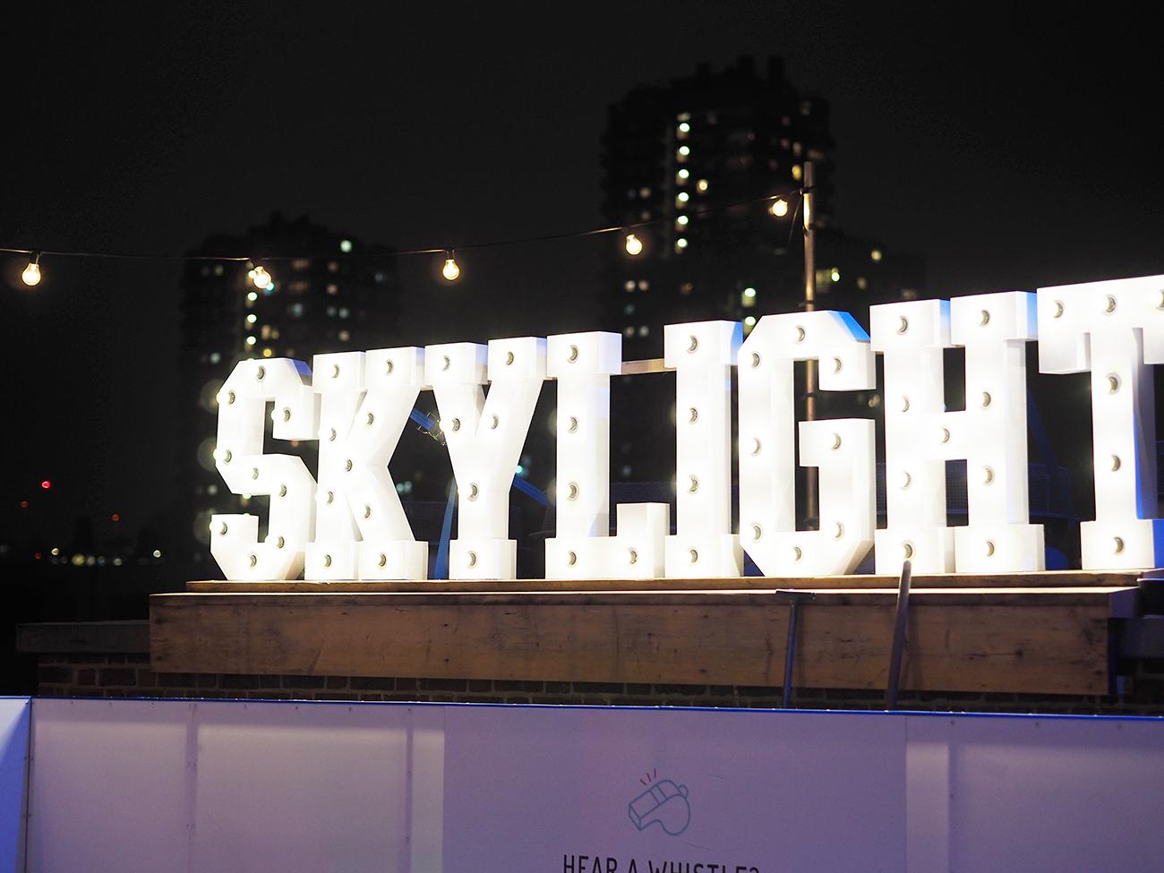 Outdoor ice rink Skylight Bar London