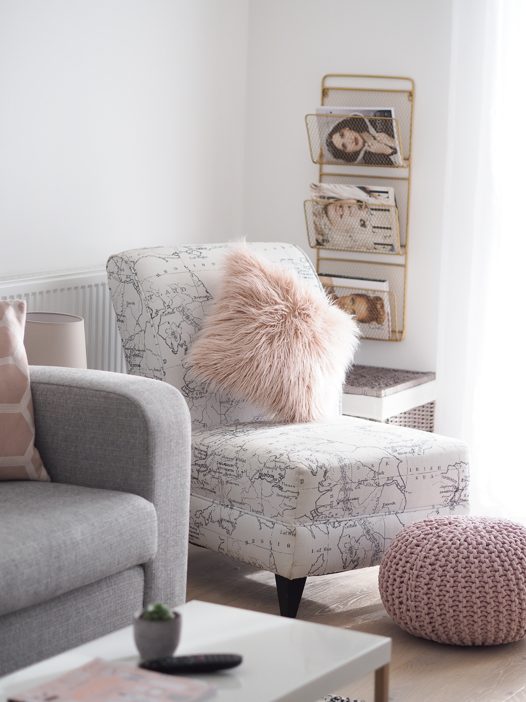 Pink And Gray Living Room: Pink, Grey & Gold Decor - Bang On Style
