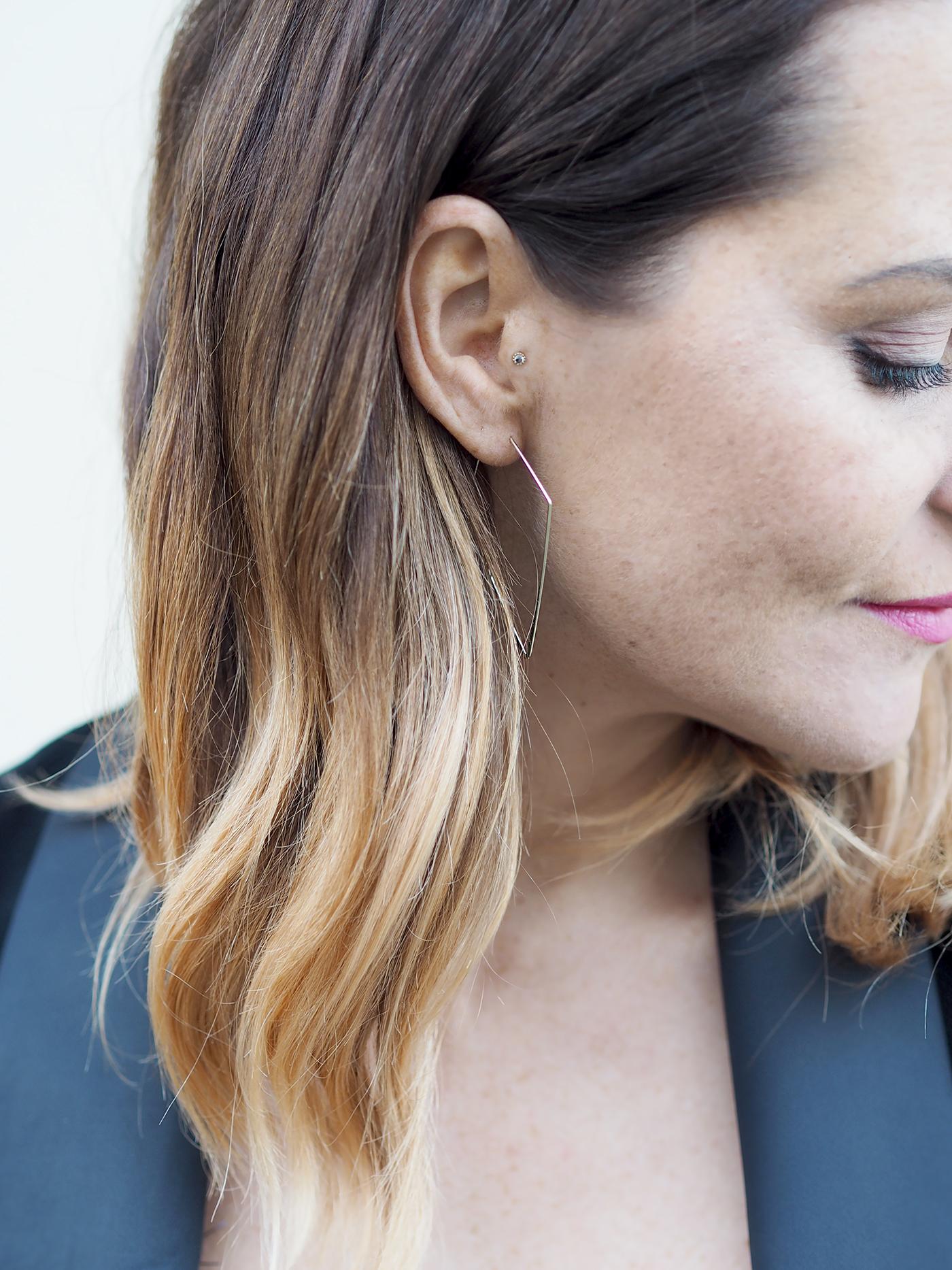 M&S gold earrings simple modern