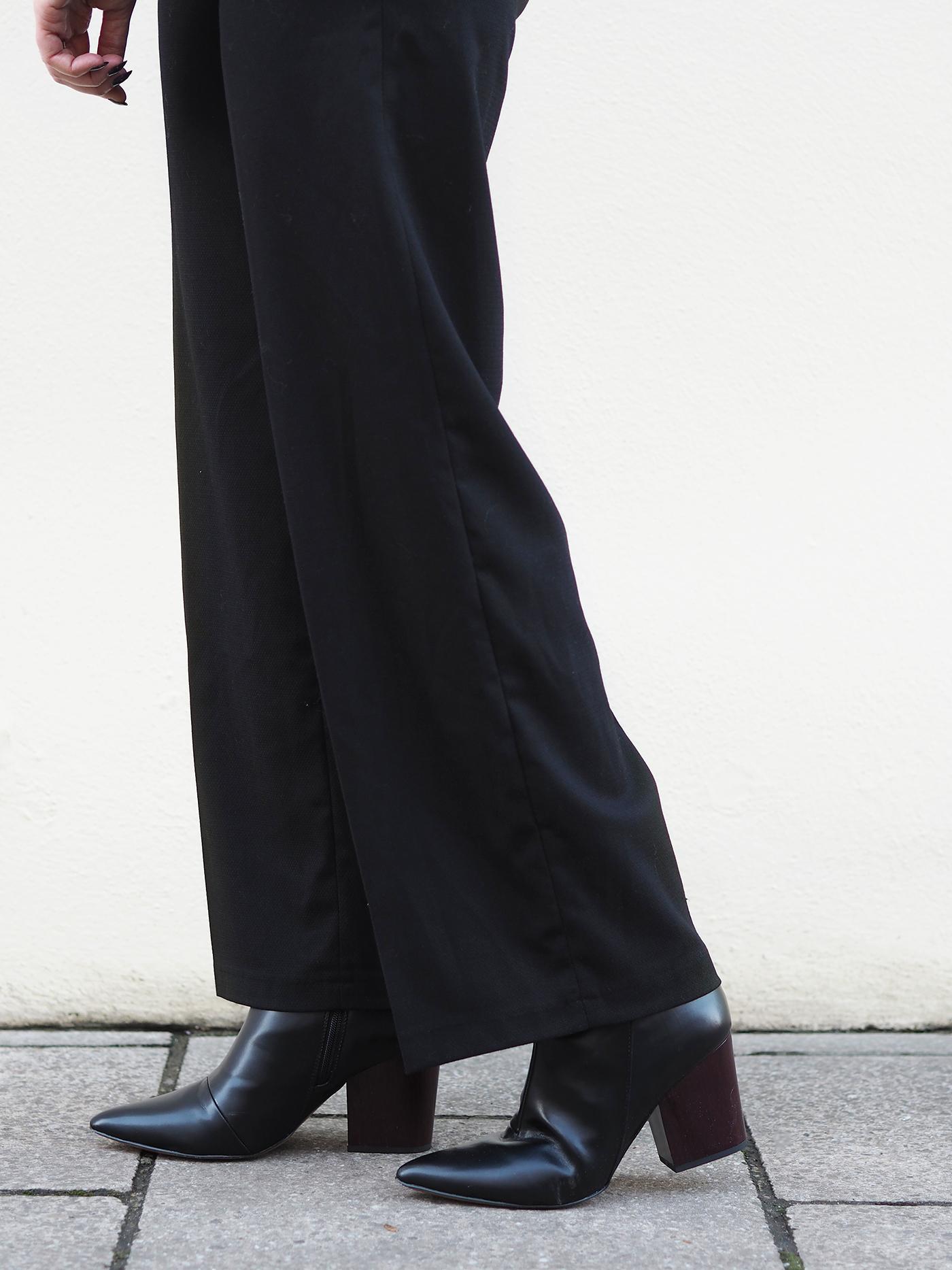heeled black boots Next