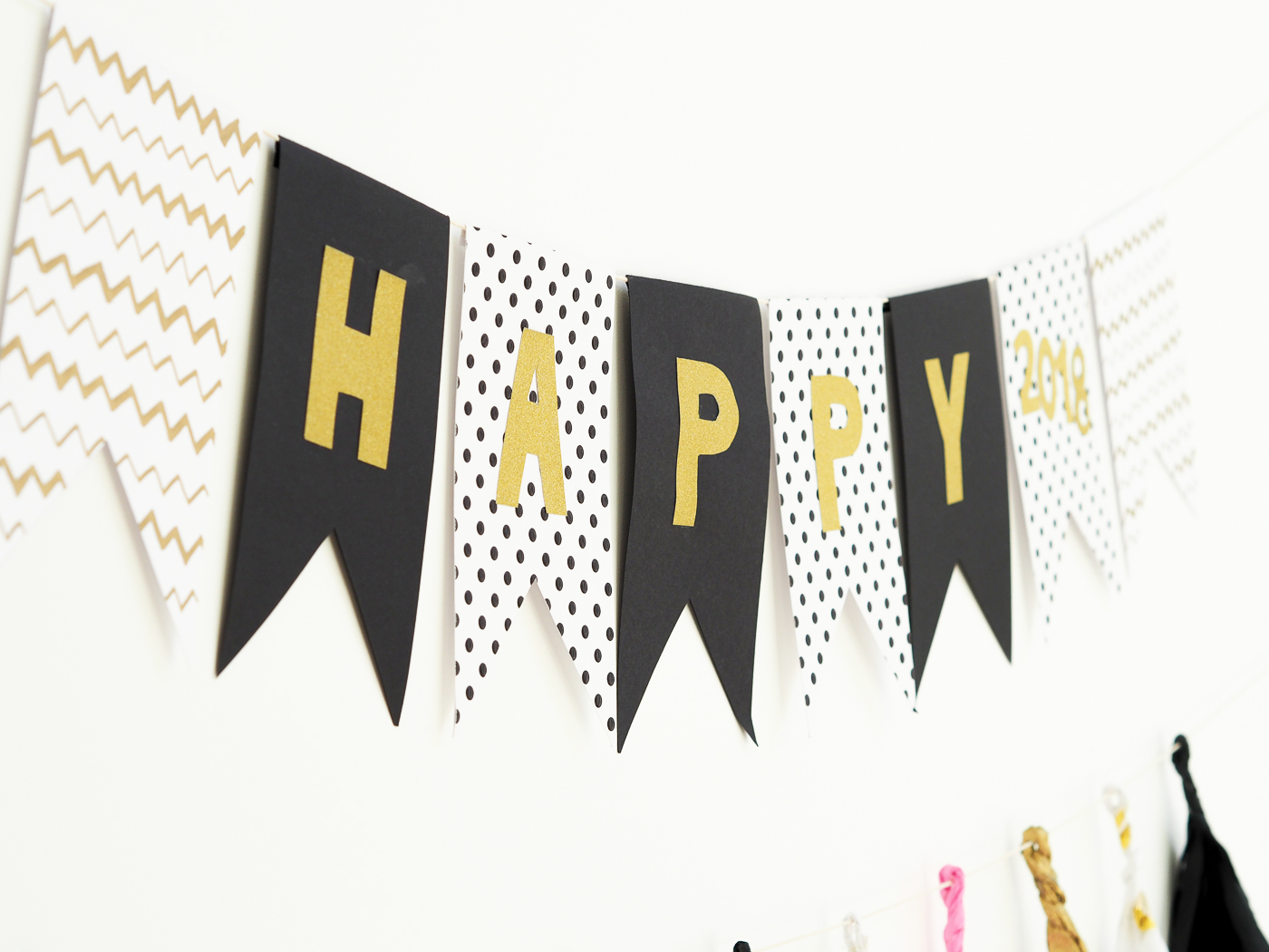 diy new years eve banner