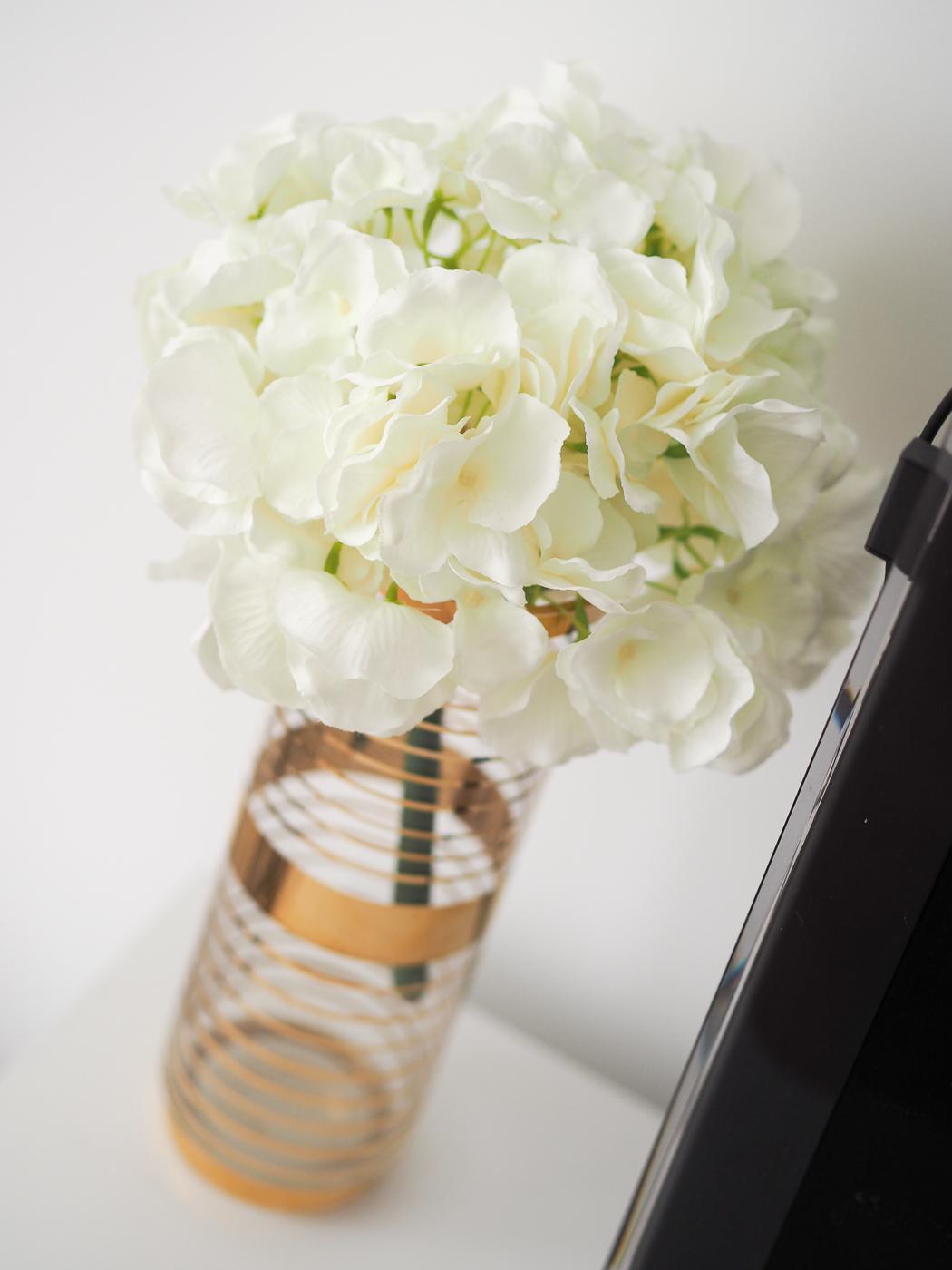 vintage gold vase