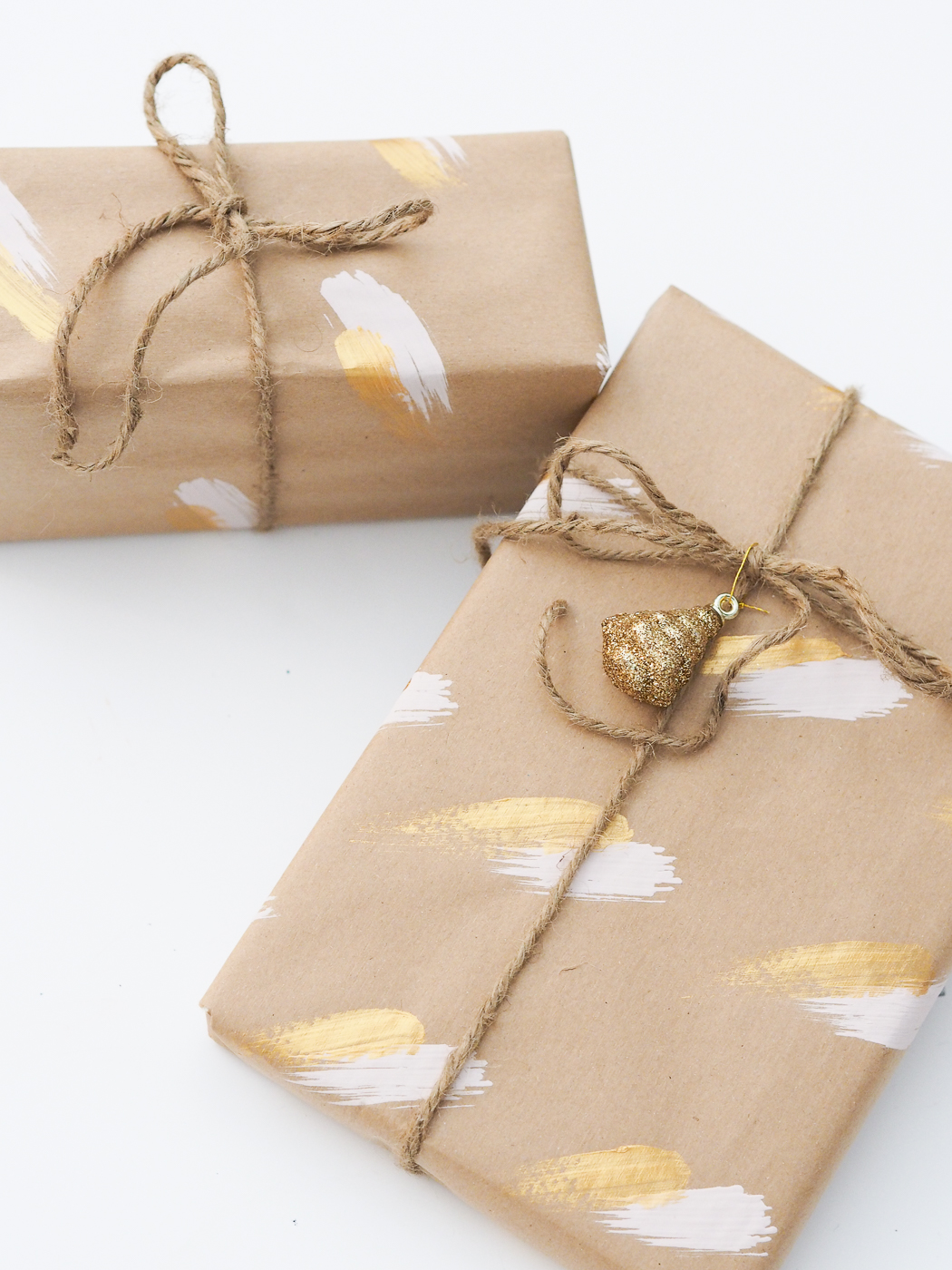 diy christmas wrapping paper ideas pink and gold