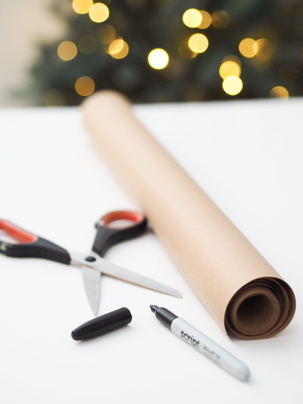 felt tip sharpie diy wrapping paper