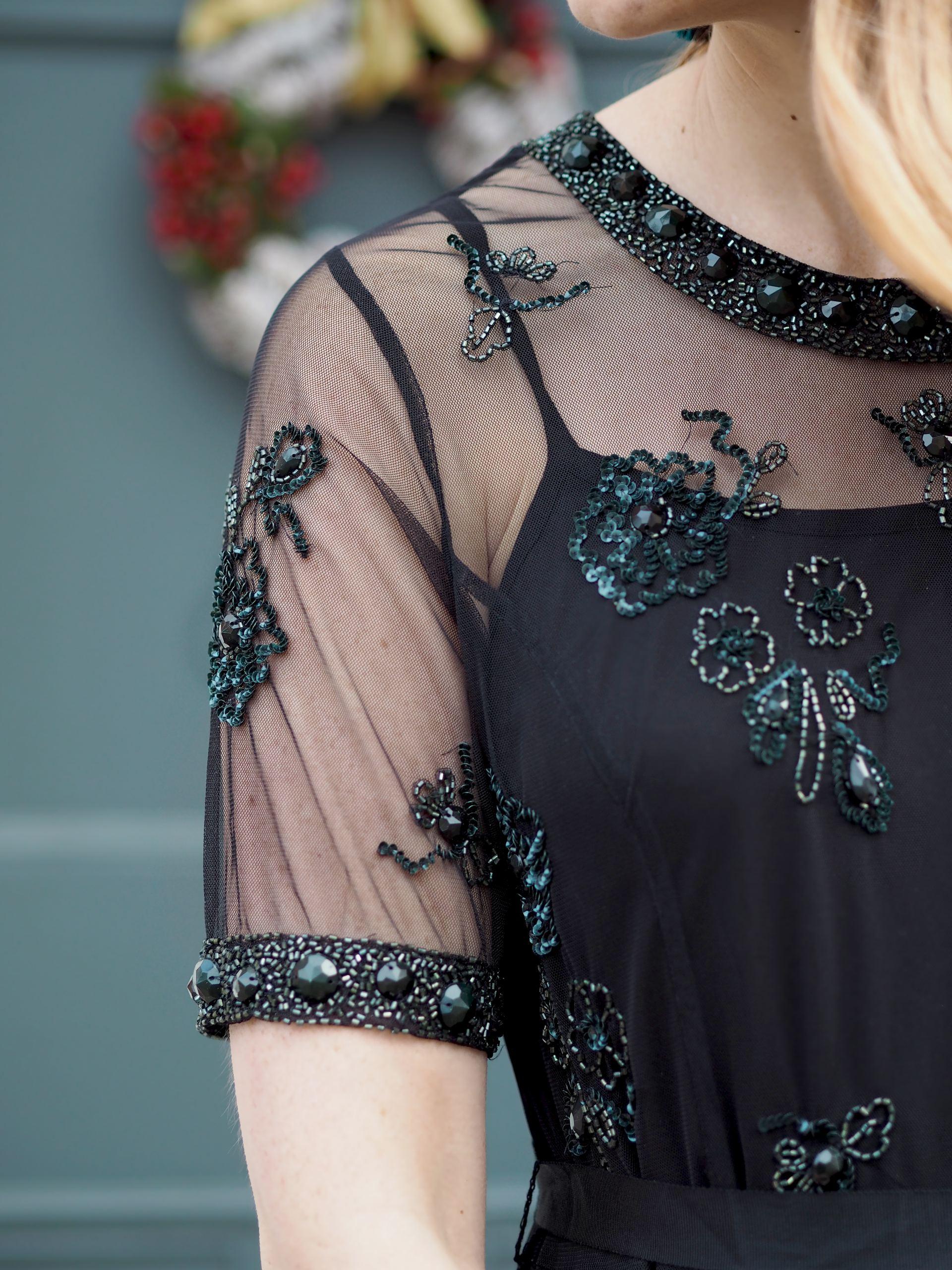 laura ashley beaded party dress