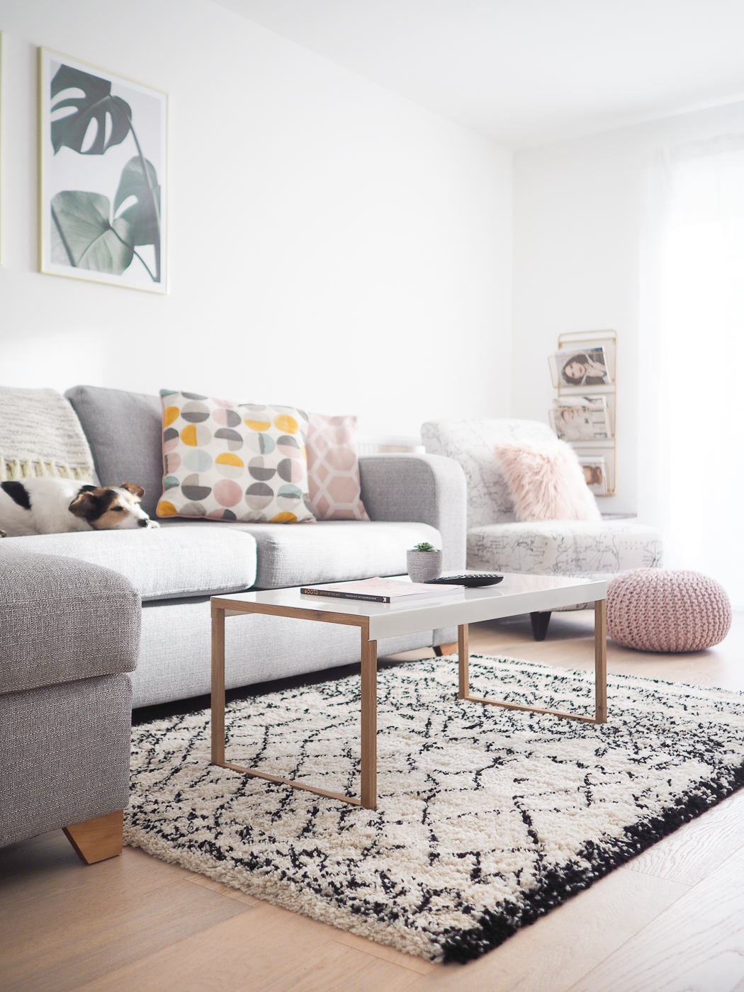 Living Room Tour | Pink, Grey & Gold decor - Bang on Style