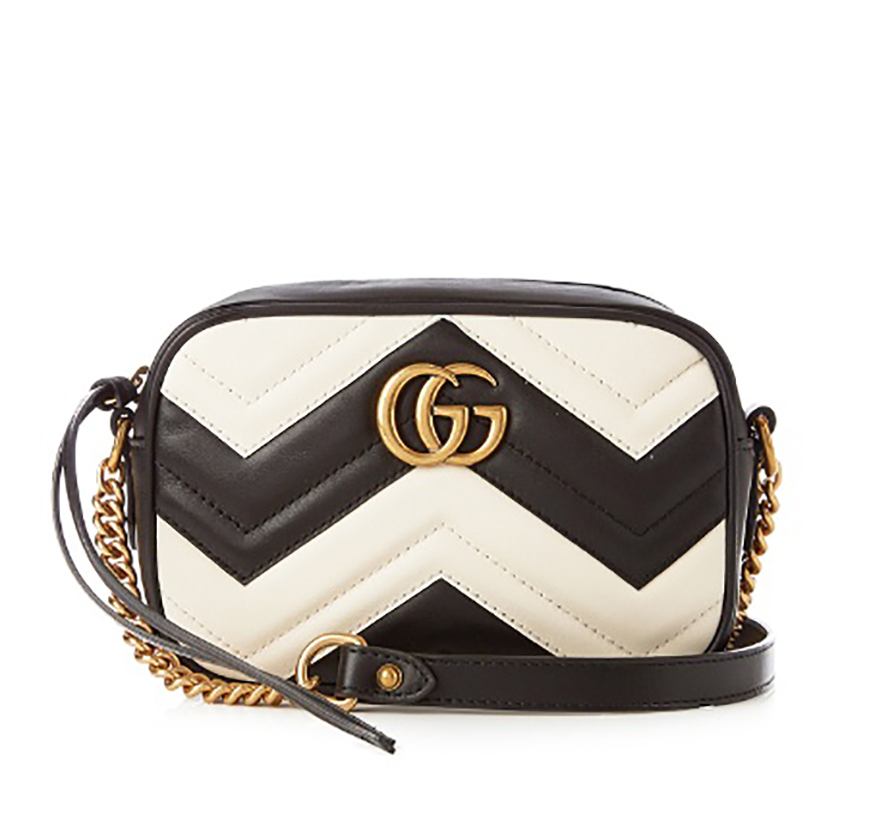 Gucci Marmont black and white quilted