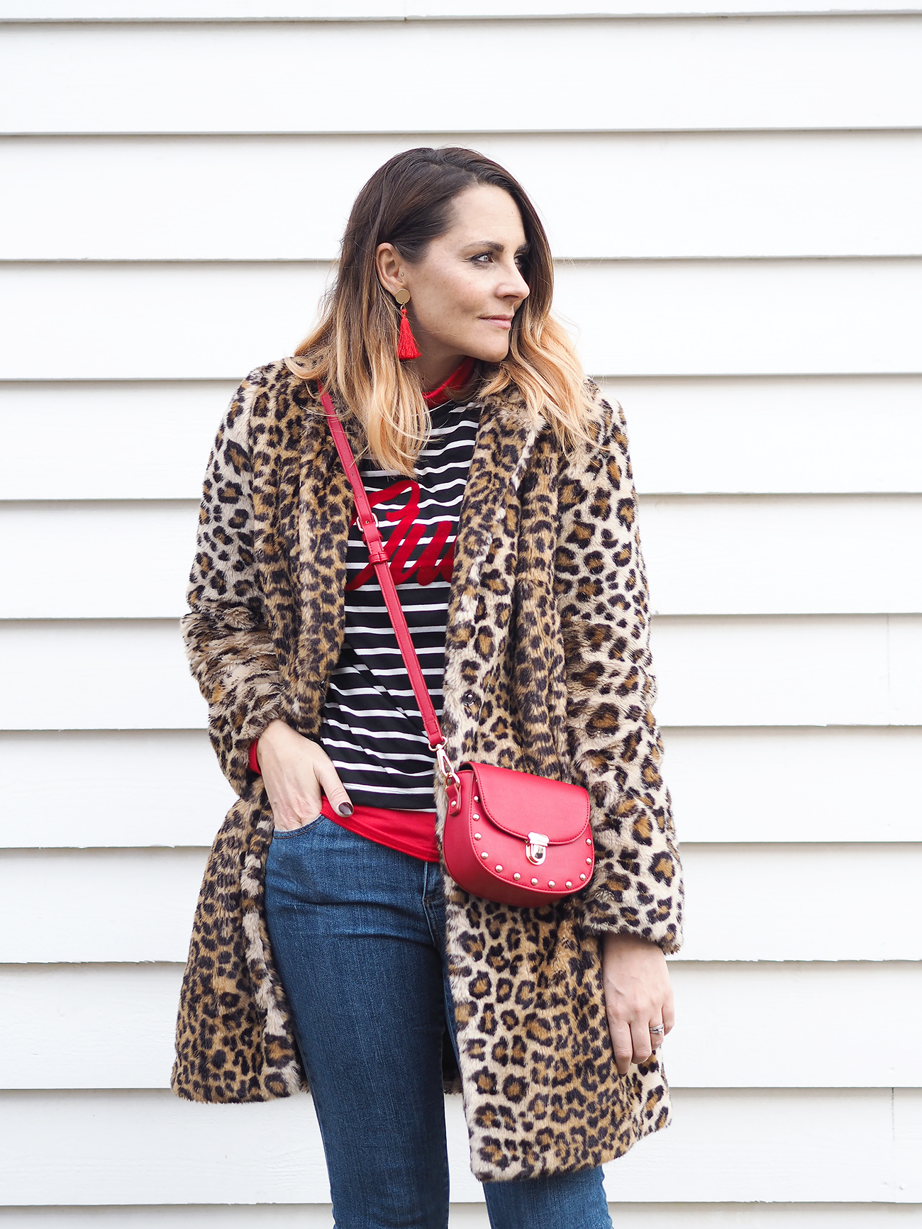 wearing clashing prints leopard and stripes