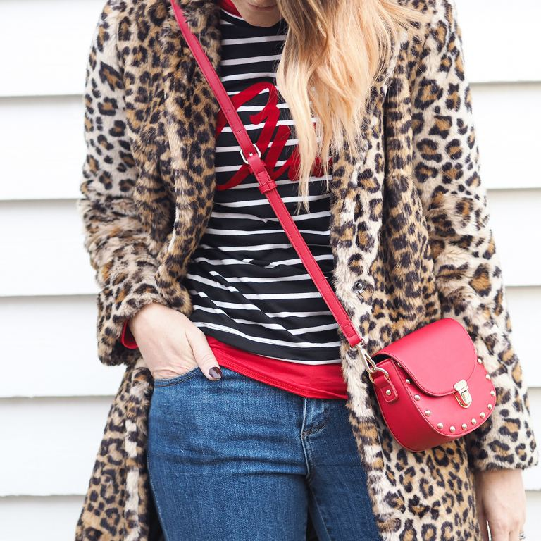 wearing mixed prints leopard and stripes