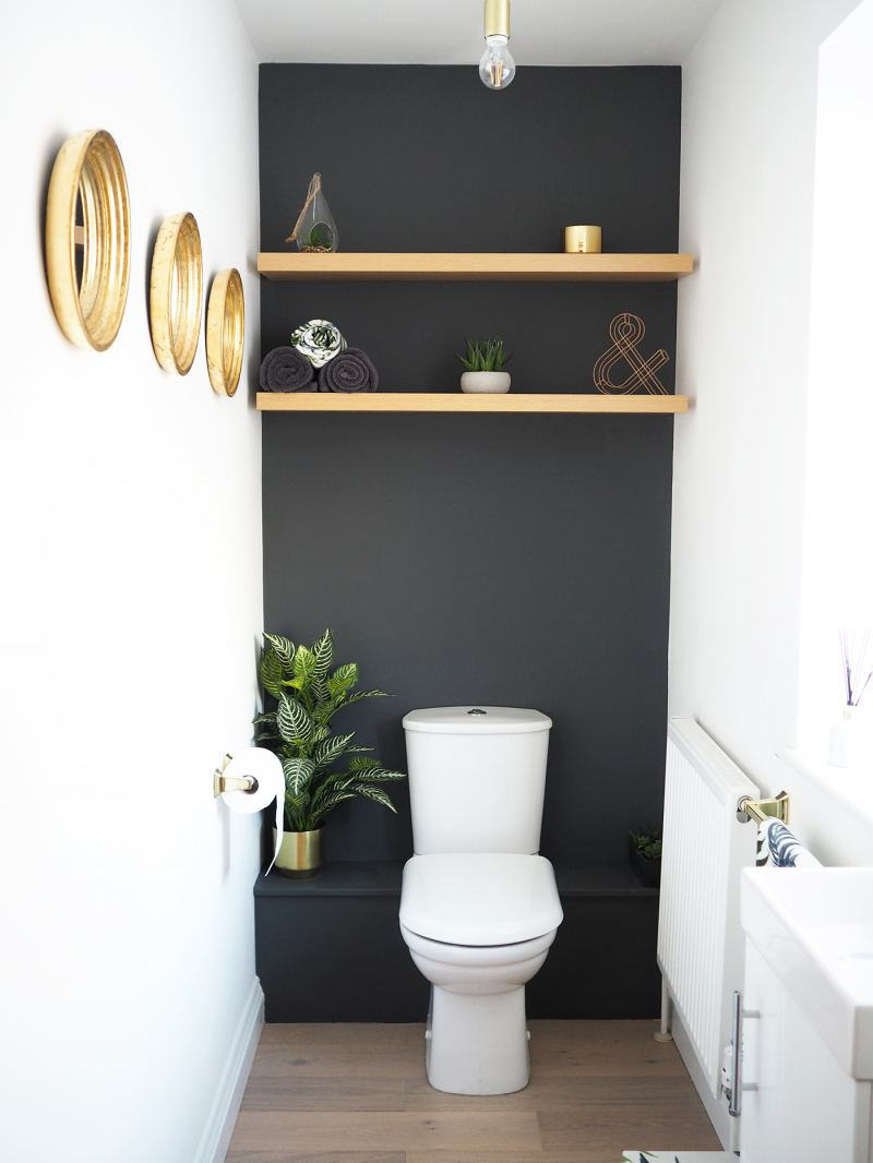Home Downstairs Bathroom Dark Grey Makeover Bang On Style