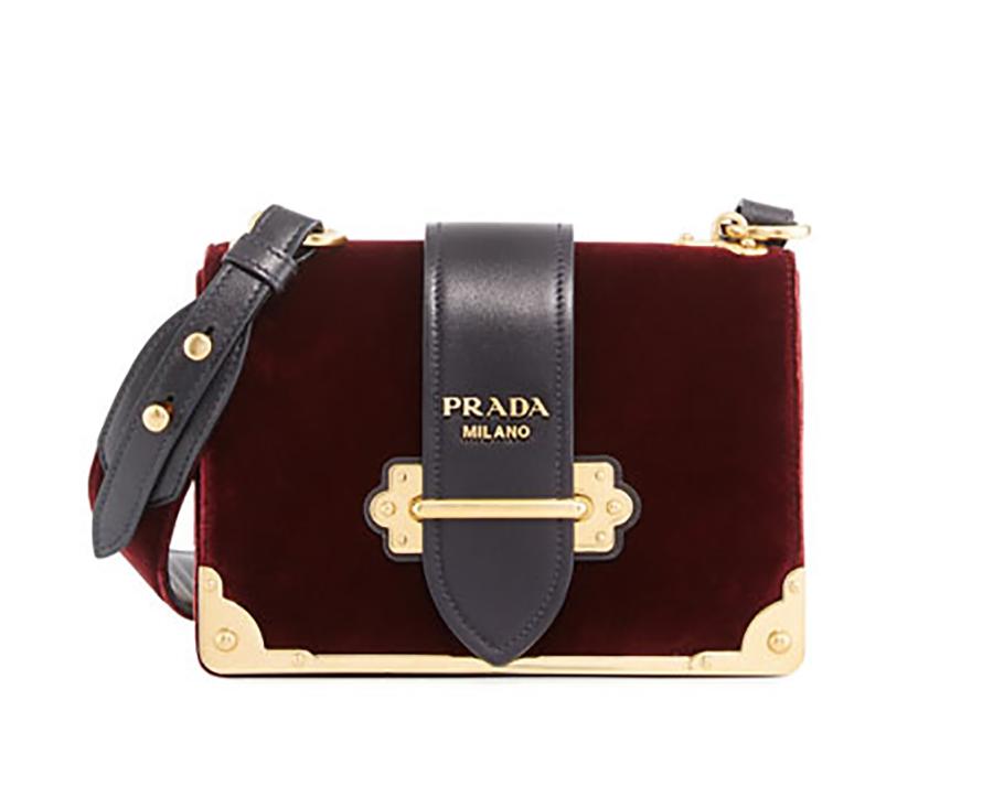 Prada Cahier velvet bag