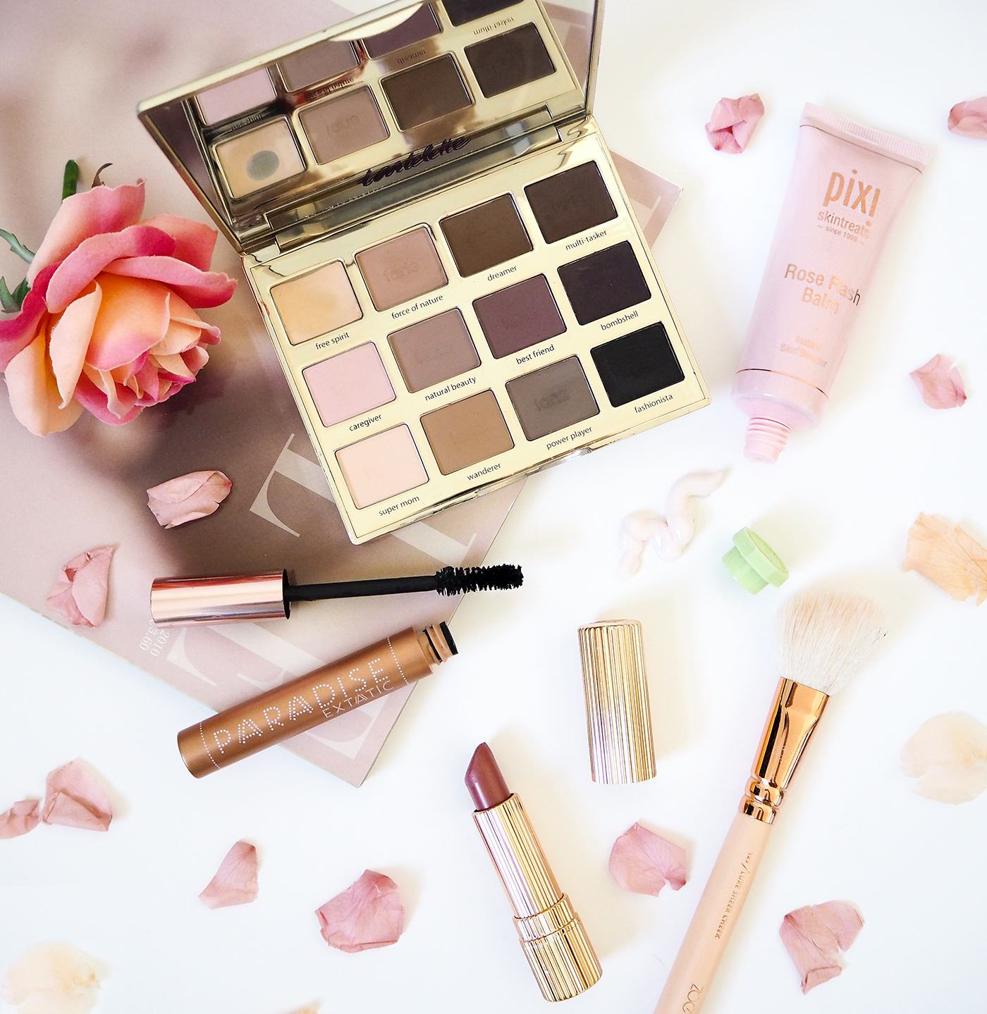 beauty flatlay tips and tricks
